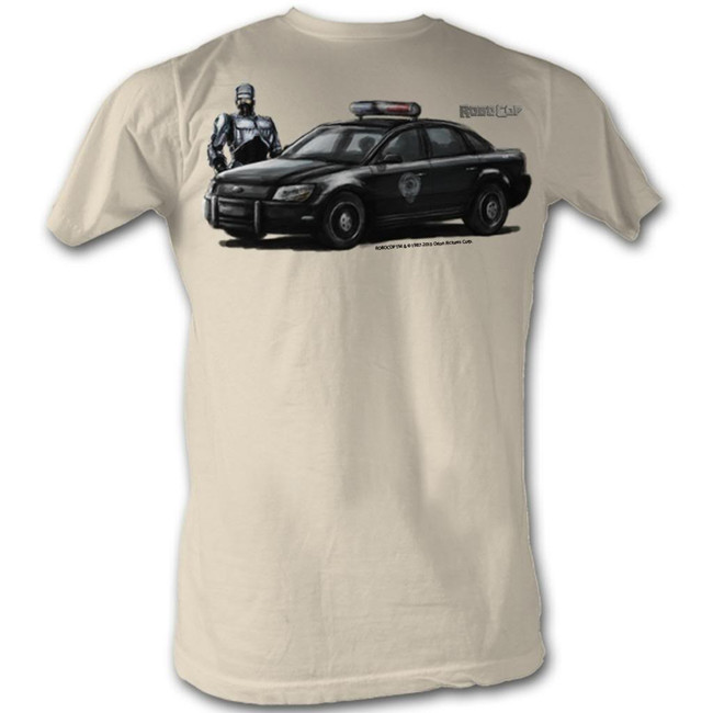 Robocop Robo Car Painting 1 Natural T-Shirt