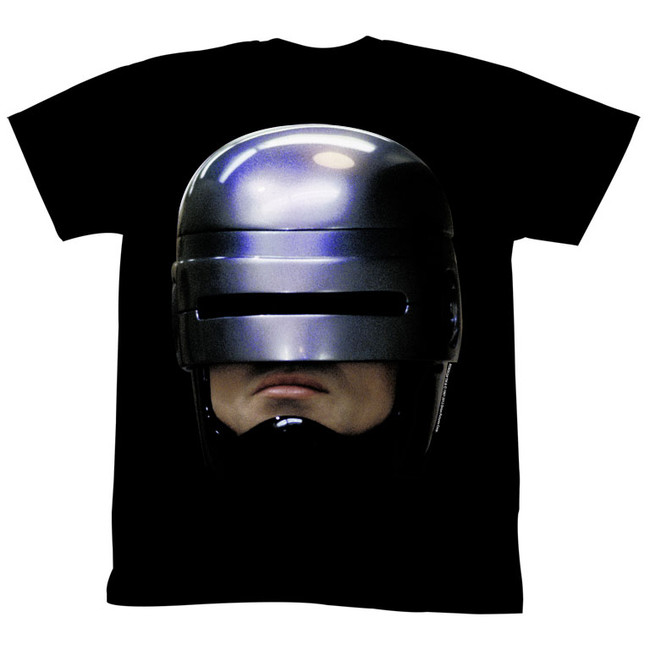 Robocop Robohead 2 Black T-Shirt