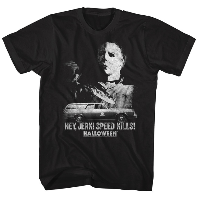 Halloween Speed Kills Black Adult T-Shirt