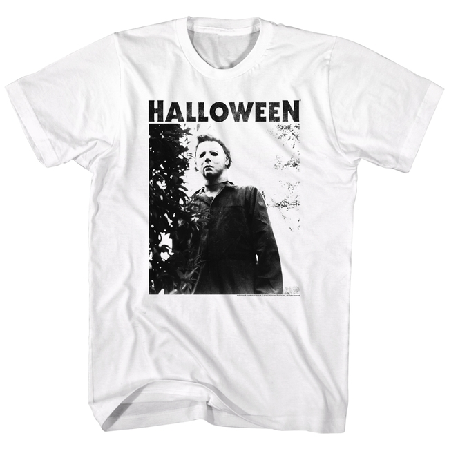 Halloween Watching Logo White Adult T-Shirt