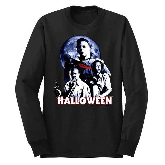Halloween Ensemble Black Adult Long Sleeve T-Shirt