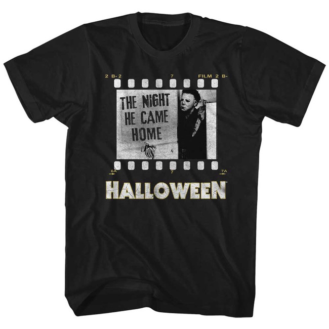 Halloween Film Strip Black Adult T-Shirt