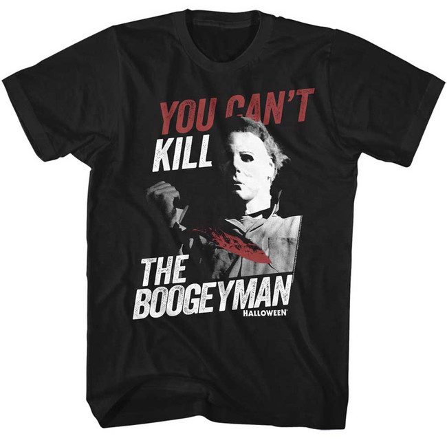Halloween Boogeyman Black Adult T-Shirt