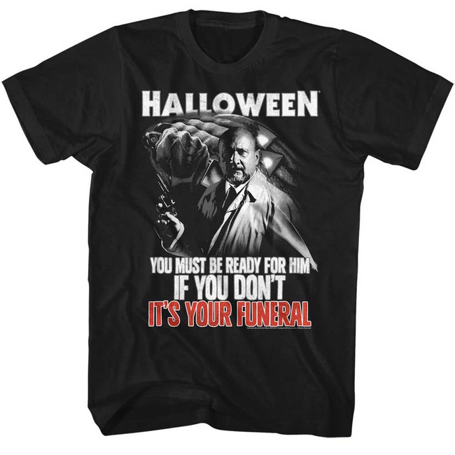 Halloween Your Funeral Black Adult T-Shirt