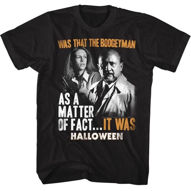 Halloween It Was Black Adult T-Shirt