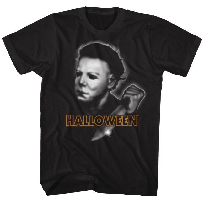 Halloween Airbrush Black Adult T-Shirt