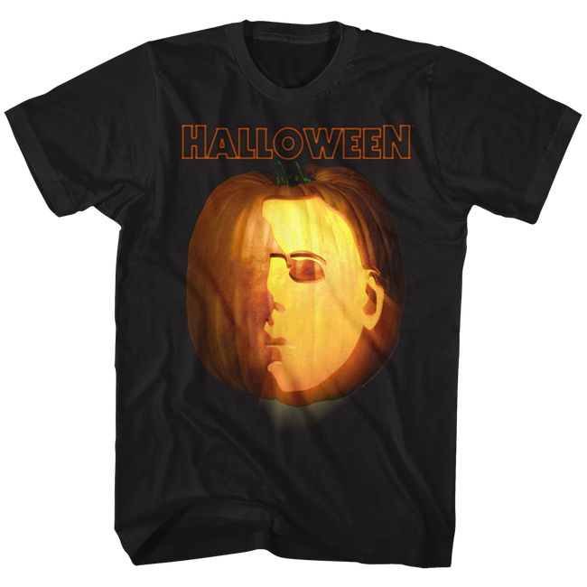 Halloween Jack O Lantern Black Adult T-Shirt