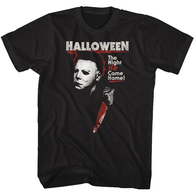 Halloween He Black Adult T-Shirt