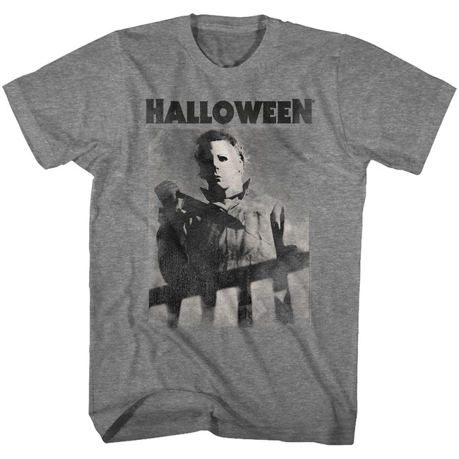 Halloween Michael Fade Graphite Heather Adult T-Shirt