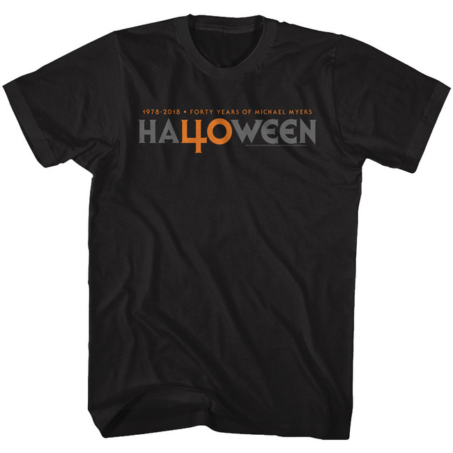 Halloween 40 Years Black Adult T-Shirt