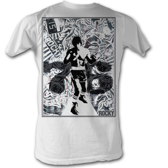 Rocky 76 Collage White T-Shirt