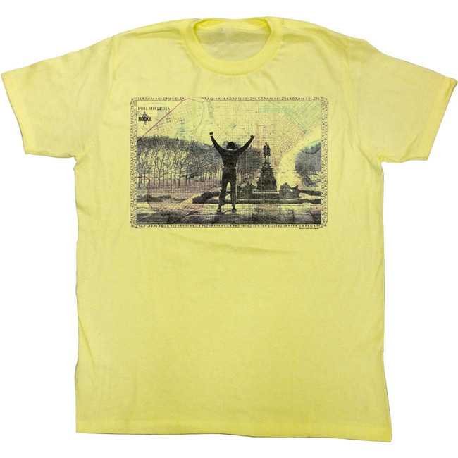 Rocky 1976 Philly Yellow Heather T-Shirt