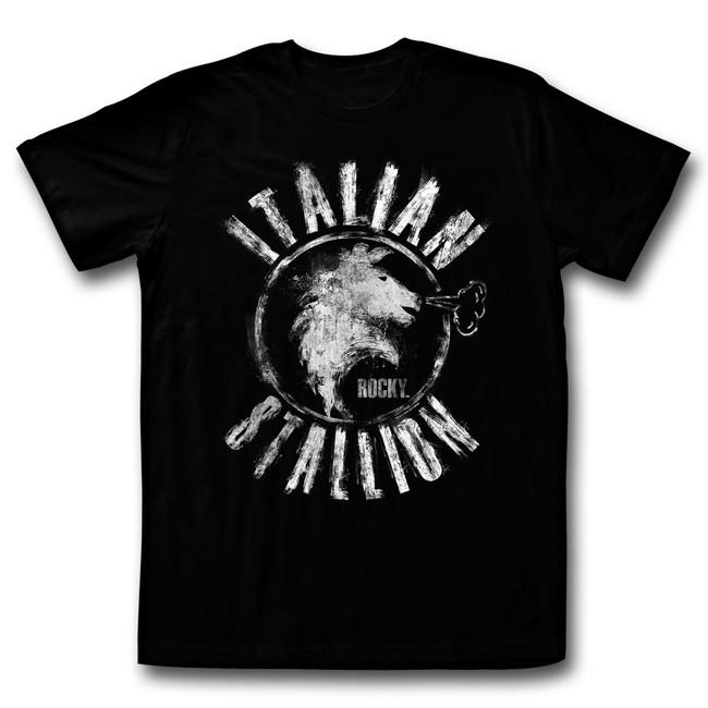 Rocky Chalk Stallion Black T-Shirt