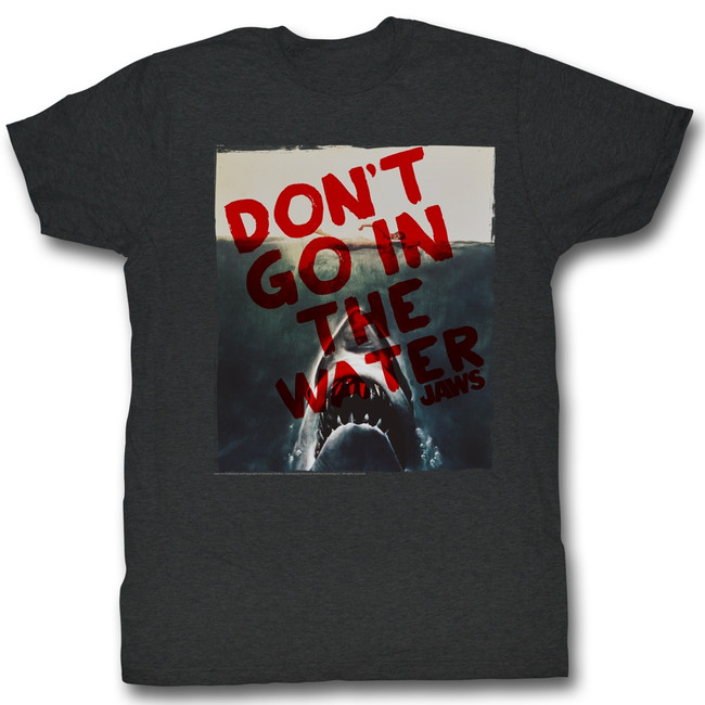 Jaws Don't Do It Black Heather Adult T-Shirt