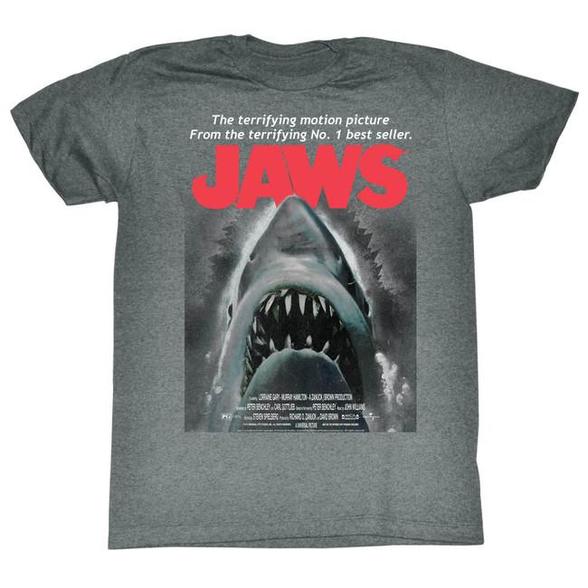 Jaws Beware Graphite Heather Adult T-Shirt