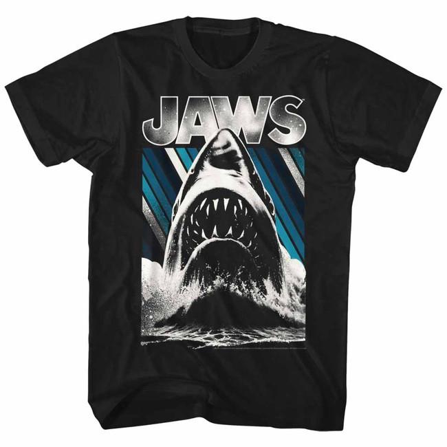 Jaws Black Adult T-Shirt