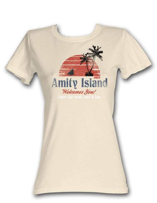 Jaws Amity Island Natural Junior Women's T-Shirt