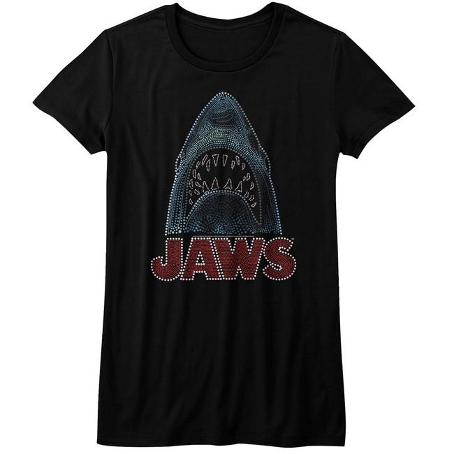 Jaws Be Dazzled Black Junior Women's T-Shirt