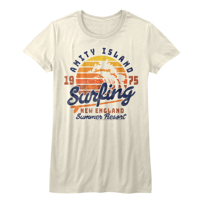 Jaws Amity Surfing Natural Youth T-Shirt