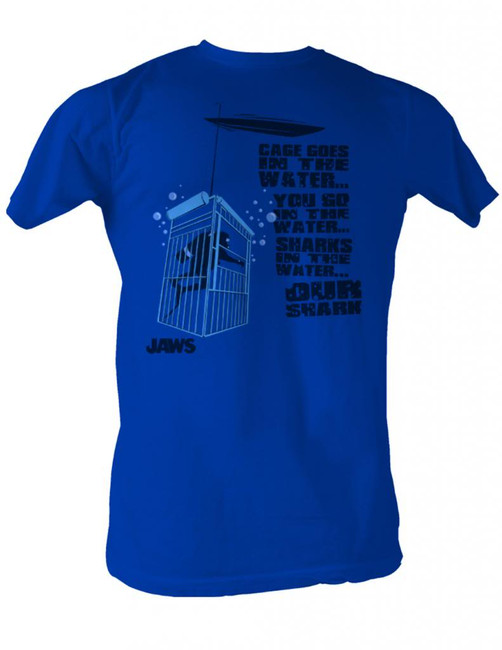 Jaws Cage In The Water Royal Adult T-Shirt