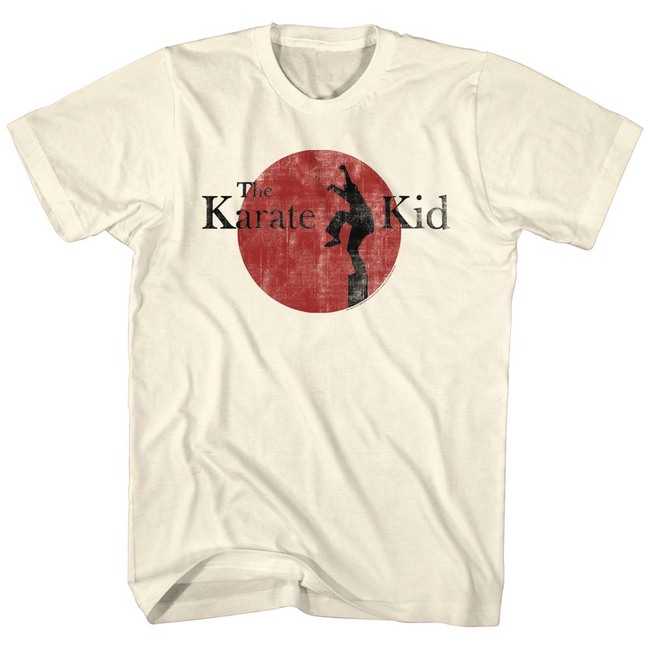 Karate Kid 80's Logo Natural Adult T-Shirt