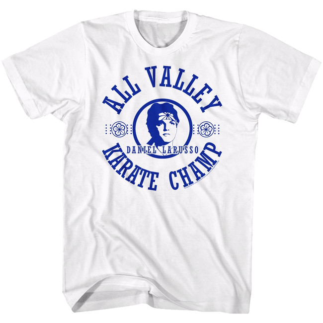 Karate Kid All Valley White Adult T-Shirt