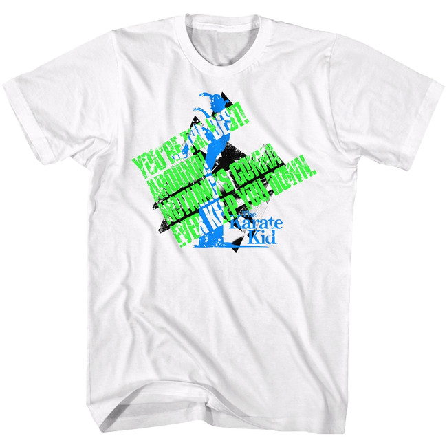 Karate Kid Best Still White Adult T-Shirt