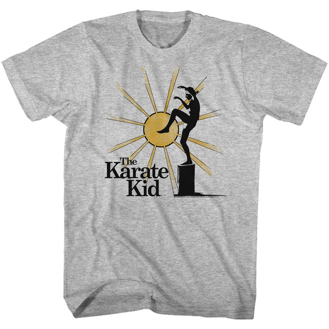 Karate Kid Bansai Black Heather Adult T-Shirt