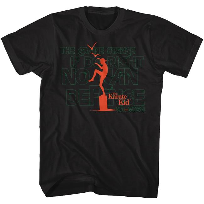 Karate Kid Burning Out Black Adult T-Shirt