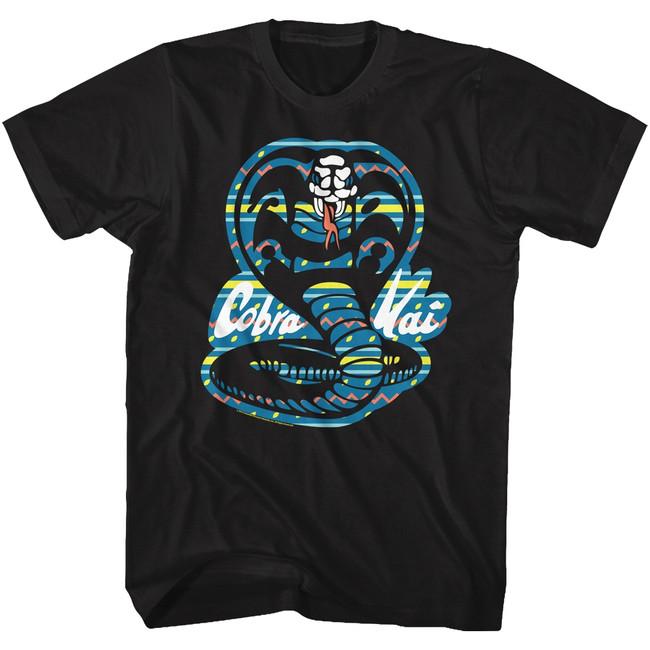 Karate Kid Cobra Black Adult T-Shirt