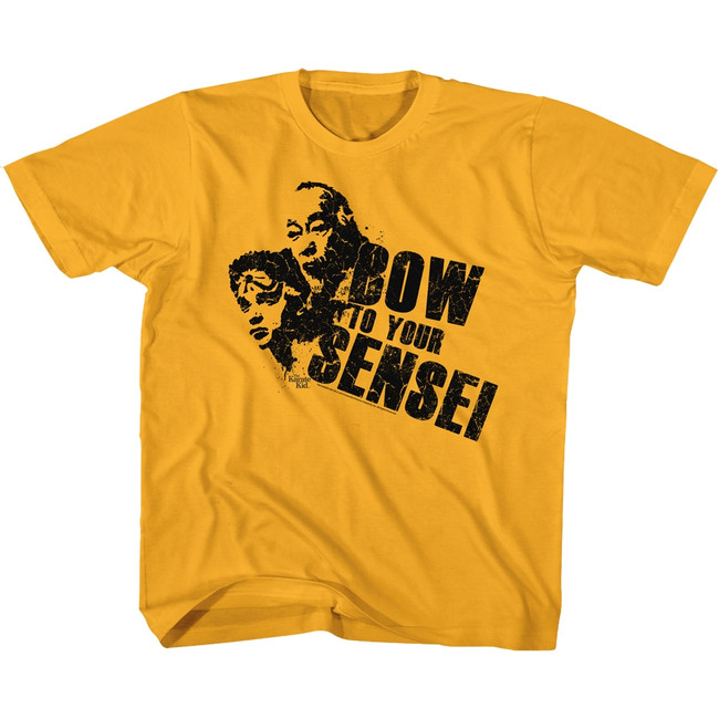 Karate Kid Bow Gold Youth T-Shirt