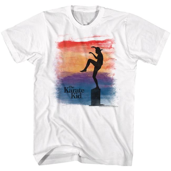Karate Kid Brush White Adult T-Shirt