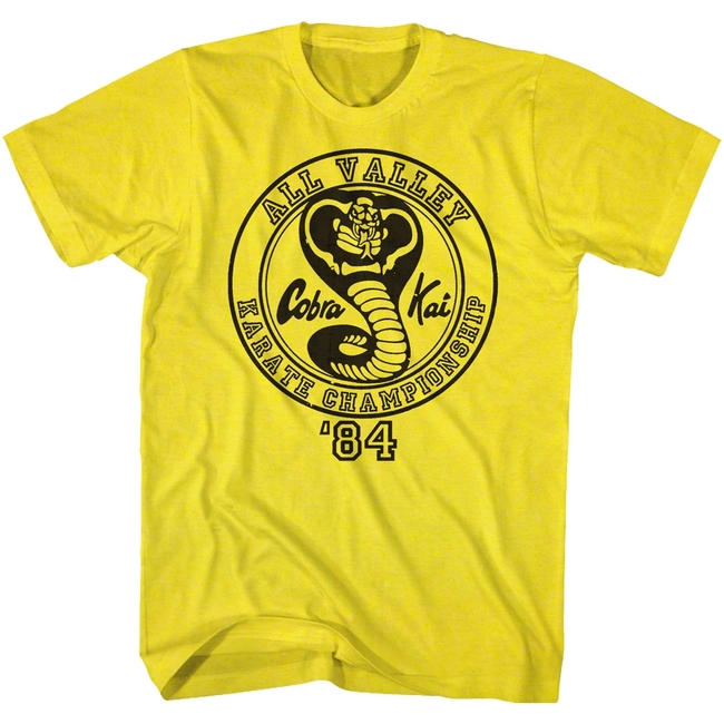Karate Kid All Valley '84 Yellow Adult T-Shirt