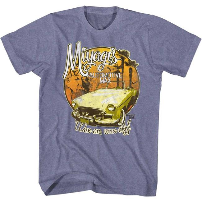 Karate Kid Auto Wax Blue Heather Adult T-Shirt