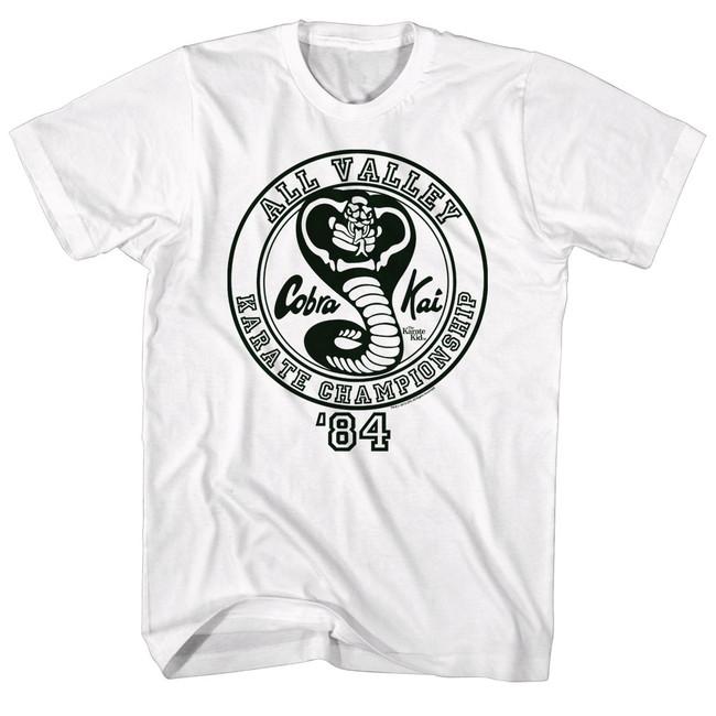 Karate Kid CK'84 White Adult T-Shirt