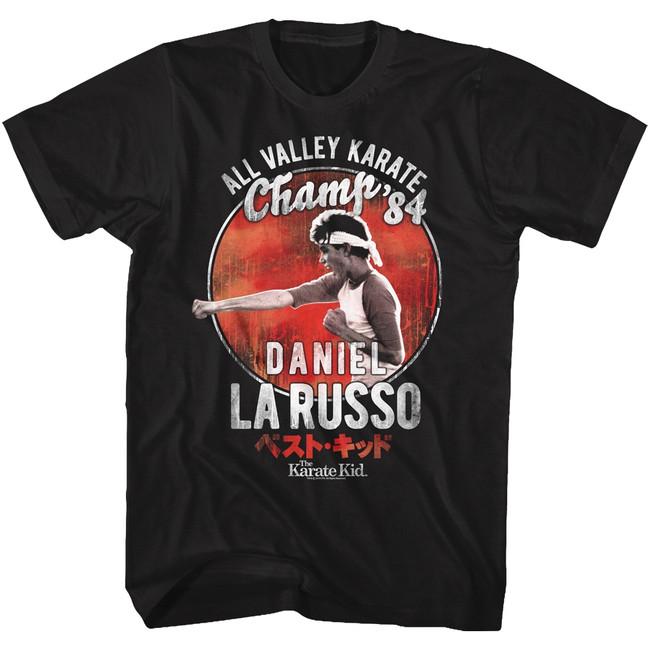 Karate Kid '84 Champ Black Adult T-Shirt