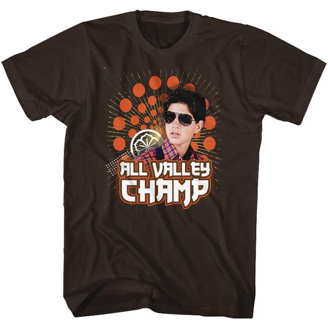 Karate Kid Champ Dark Brown Adult T-Shirt