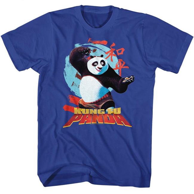 Kung Fu Panda Circle Symbols Royal Adult T-Shirt
