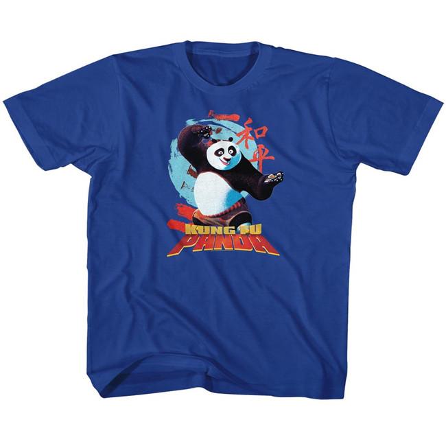 Kung Fu Panda Circle Symbols Royal Children's T-Shirt