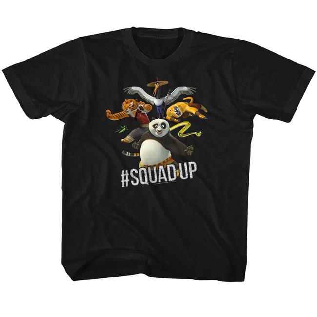 Kung Fu Panda Squad Up Black Children's T-Shirt