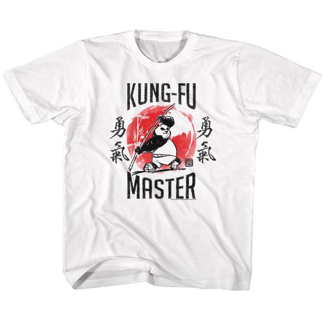 Kung Fu Panda Kung-Fu Master White Children's T-Shirt