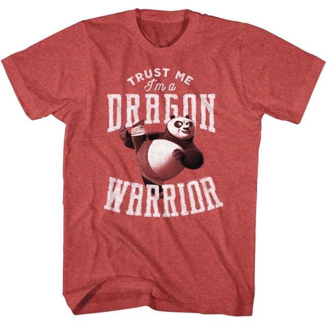 Kung Fu Panda Trust Me Red Heather Adult T-Shirt