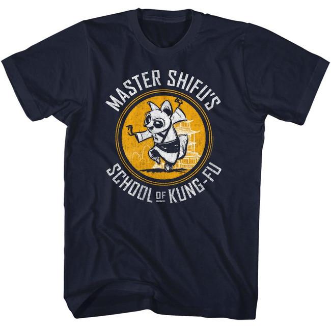Kung Fu Panda Shifu Kung-Fu School Navy Adult T-Shirt