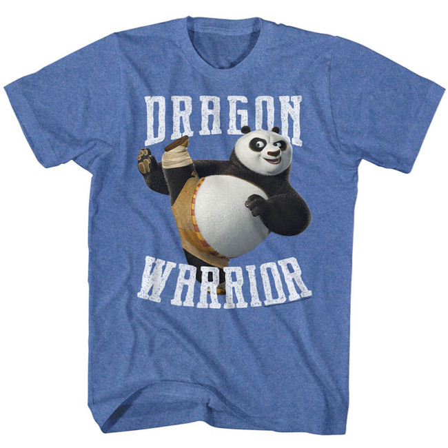 Kung Fu Panda D-Warrior Royal Heather Adult T-Shirt