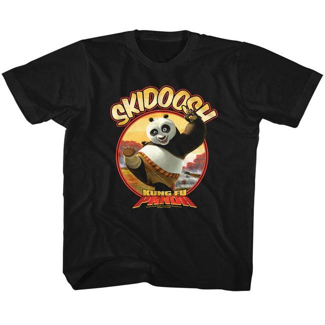Kung Fu Panda Skidoosh Black Children's T-Shirt