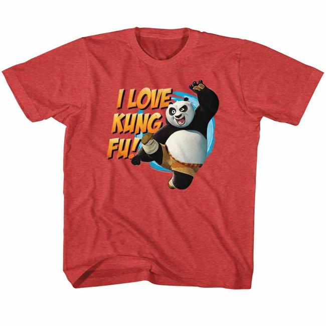 Kung Fu Panda Love Kung Fu Vintage Red Children's T-Shirt
