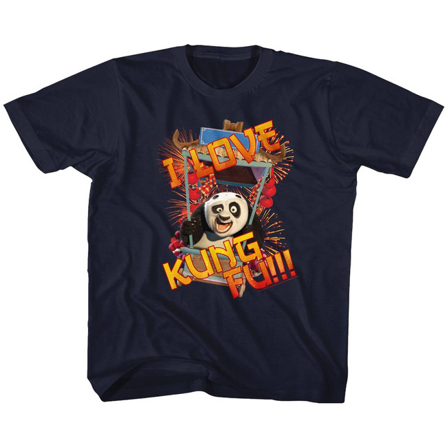 Kung Fu Panda Love Navy Toddler T-Shirt
