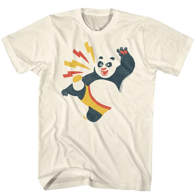 Kung Fu Panda Kicky Boy Natural Adult T-Shirt