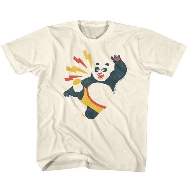 Kung Fu Panda Kicky Boy Natural Youth T-Shirt