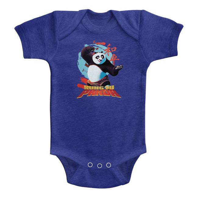 Kung Fu Panda Circle Symbols Vintage Royal Baby Onesie T-Shirt